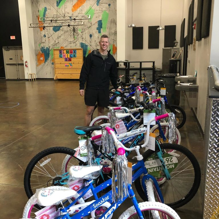 Donated bikes with Shane from TheSpokesGroup