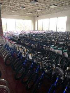 Over 100 bikes donated